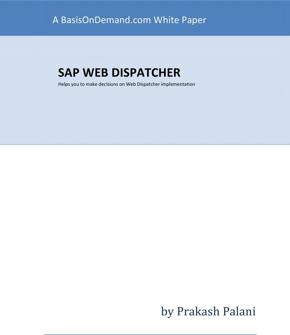 DISPATCHER Helps you to make