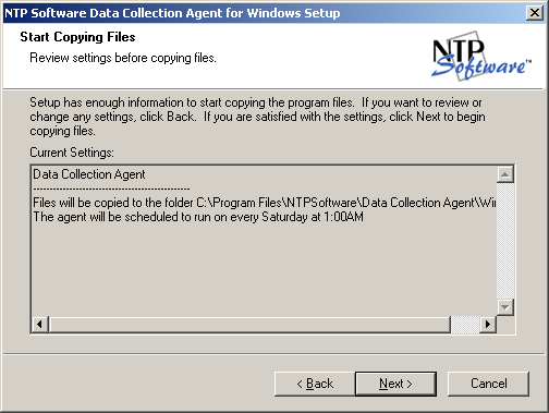 8. Specify whether you will use a local or web location for the agent configuration file. If you select the Web Service option, enter the information required to access the file.