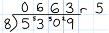 Division Focus: Extending use of short multiplication to 4 digits and remainders Children in year 5 will use short division to solve problems up to 4 digits long.