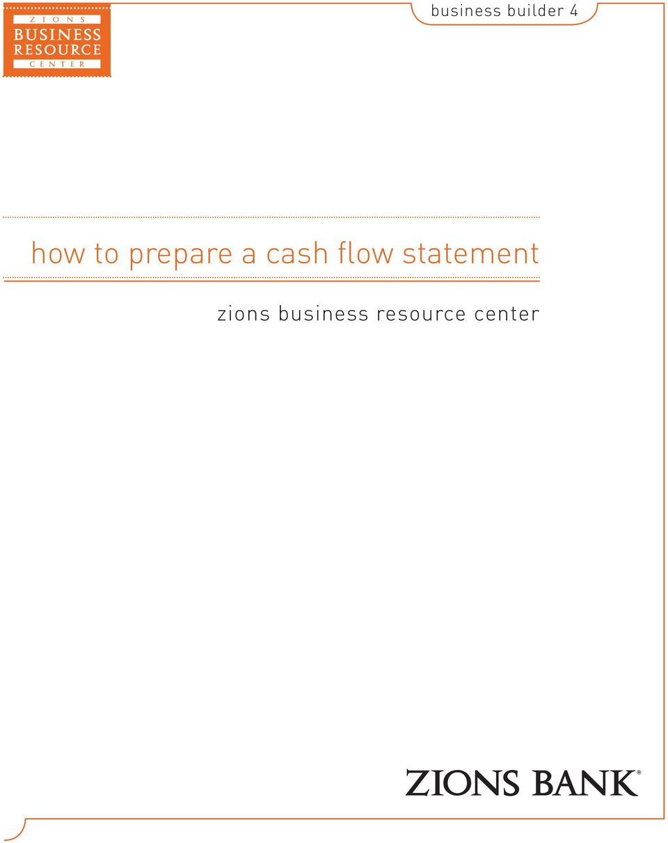 flow statement zions