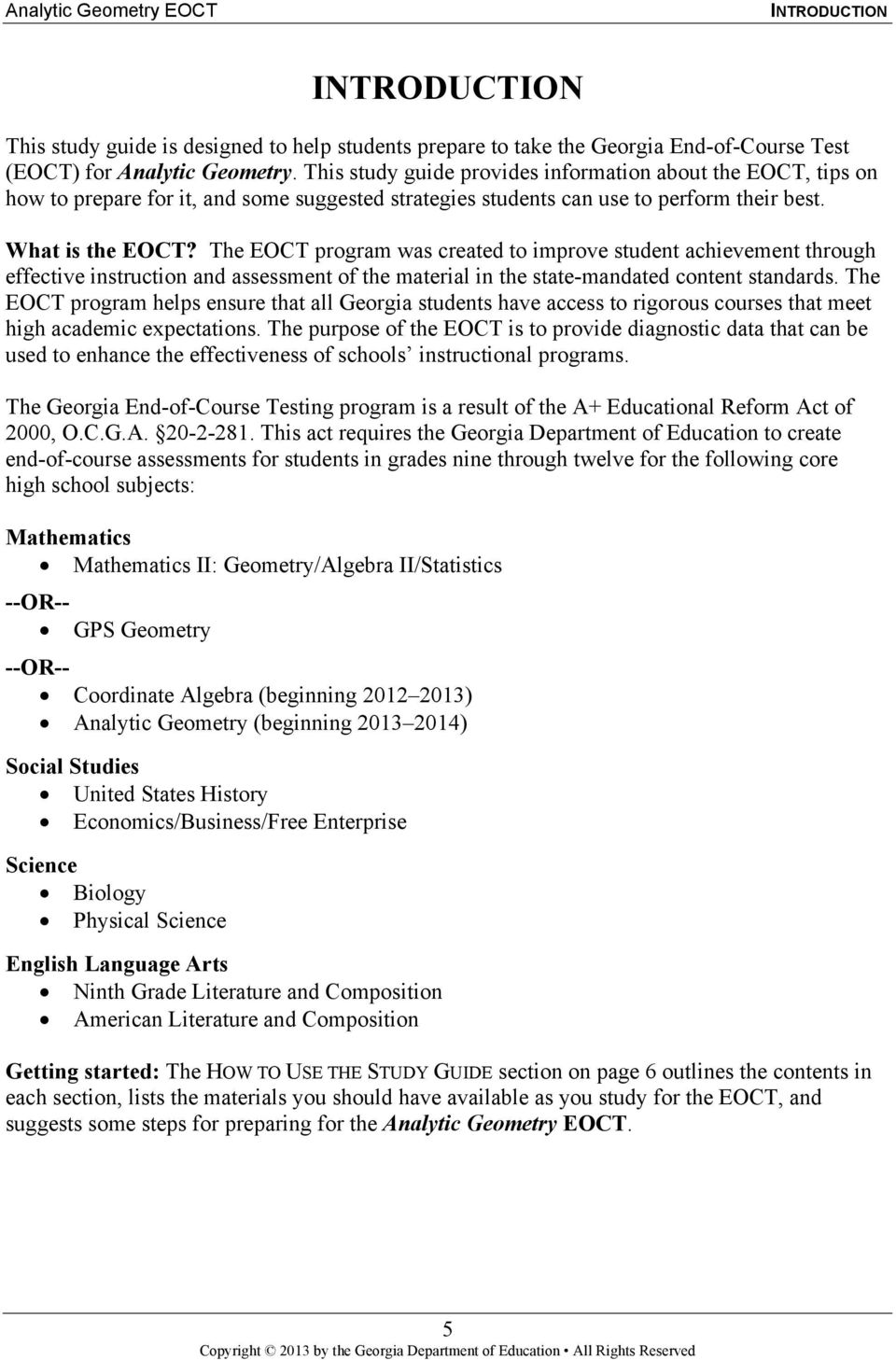 analytic geometry study guide georgia end of course tests pdf rh docplayer net