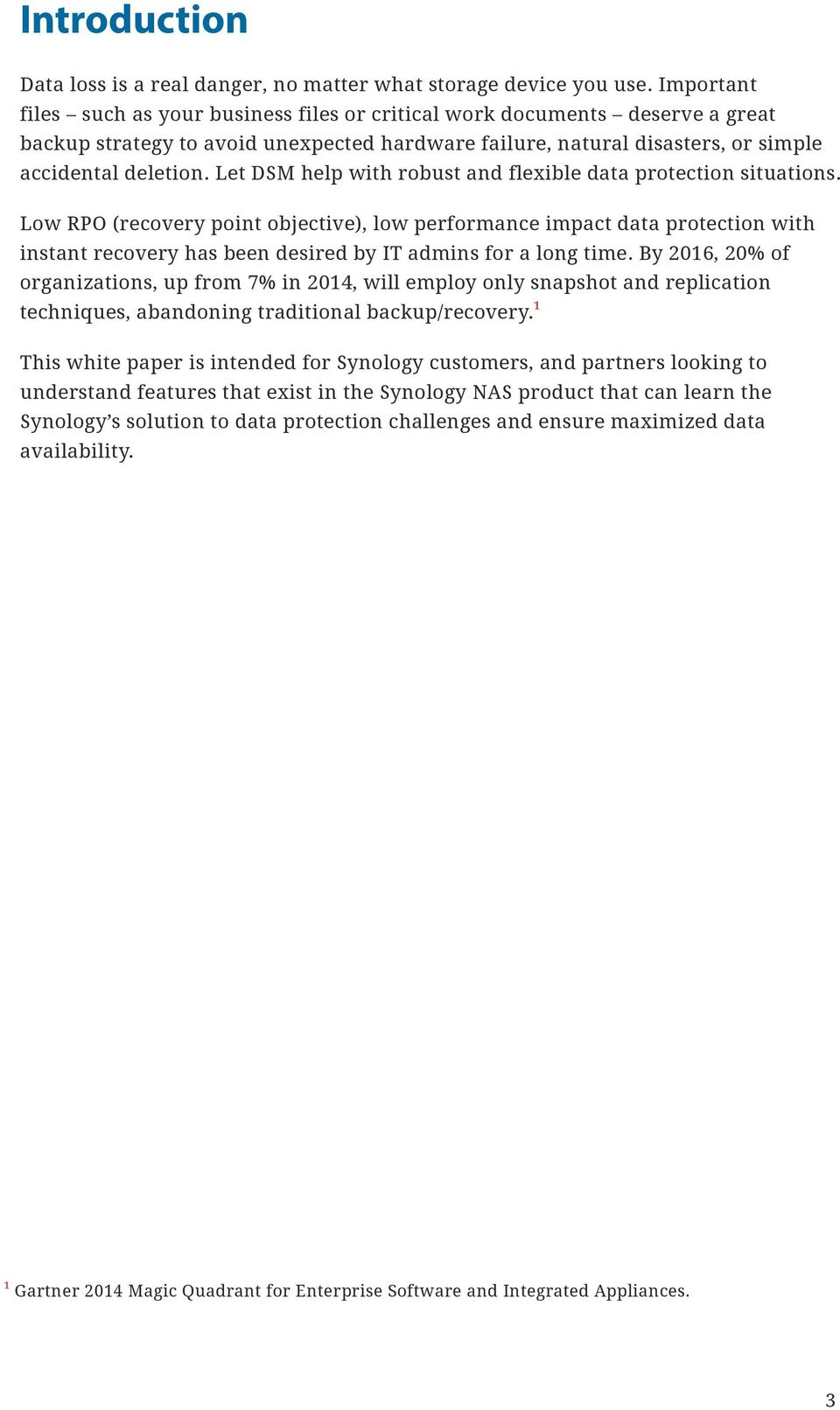 White Paper for Data Protection with Synology Snapshot
