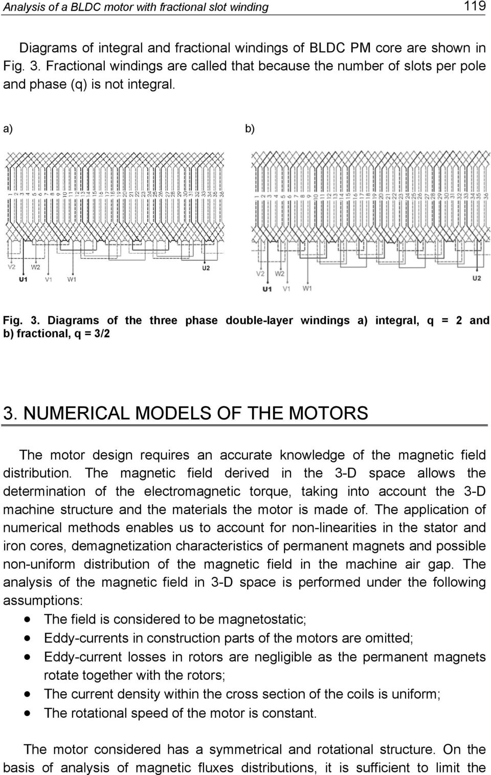 Analysis Of A Bldc Motor With Fractional Slot Winding Pdf 3 Phase Diagram Diagrams The Three Double Layer Windings Integral Q 2