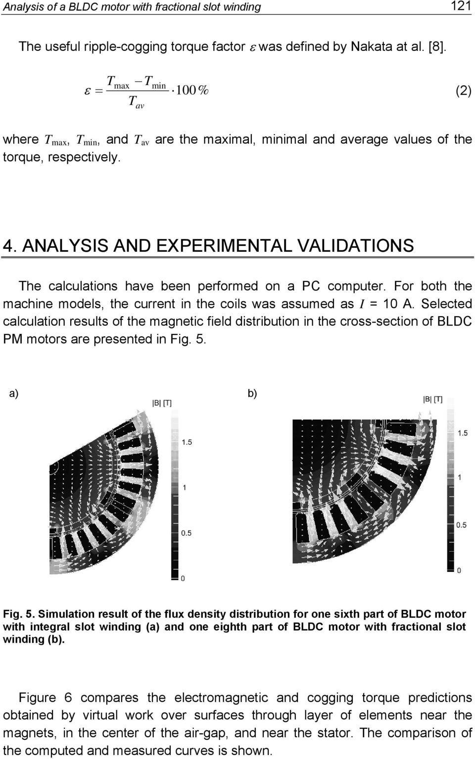 ANALYSIS OF A BLDC MOTOR WITH FRACTIONAL SLOT WINDING - PDF