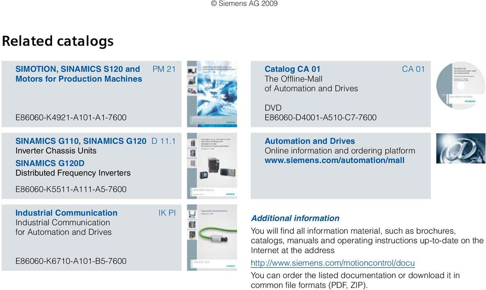 siemens ag sinamics s110 the basic positioning drive catalog pm