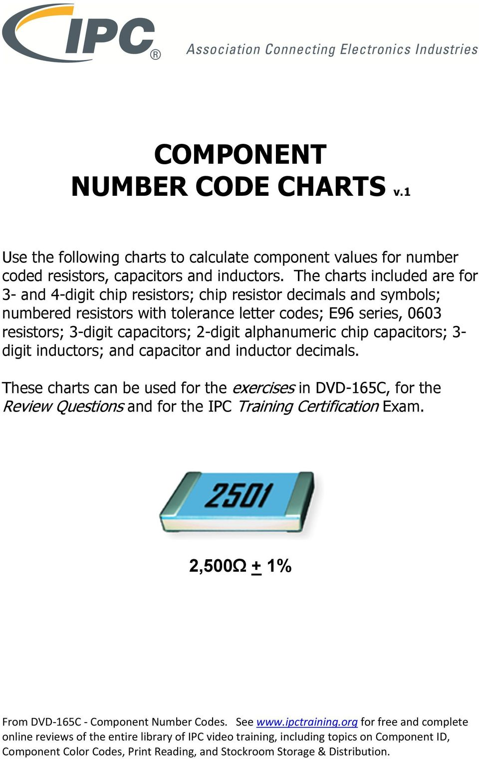 Component Number Code Charts V1 Pdf Absolute Beginners Study Guide Chapter 1 Basic Electrical Circuit Codes E96 Series 0603 Resistors 3 Digit Capacitors 2