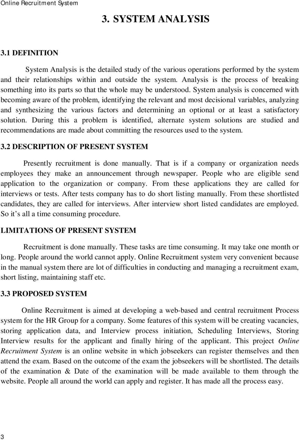 PDF) Online Recruitment System Project Report