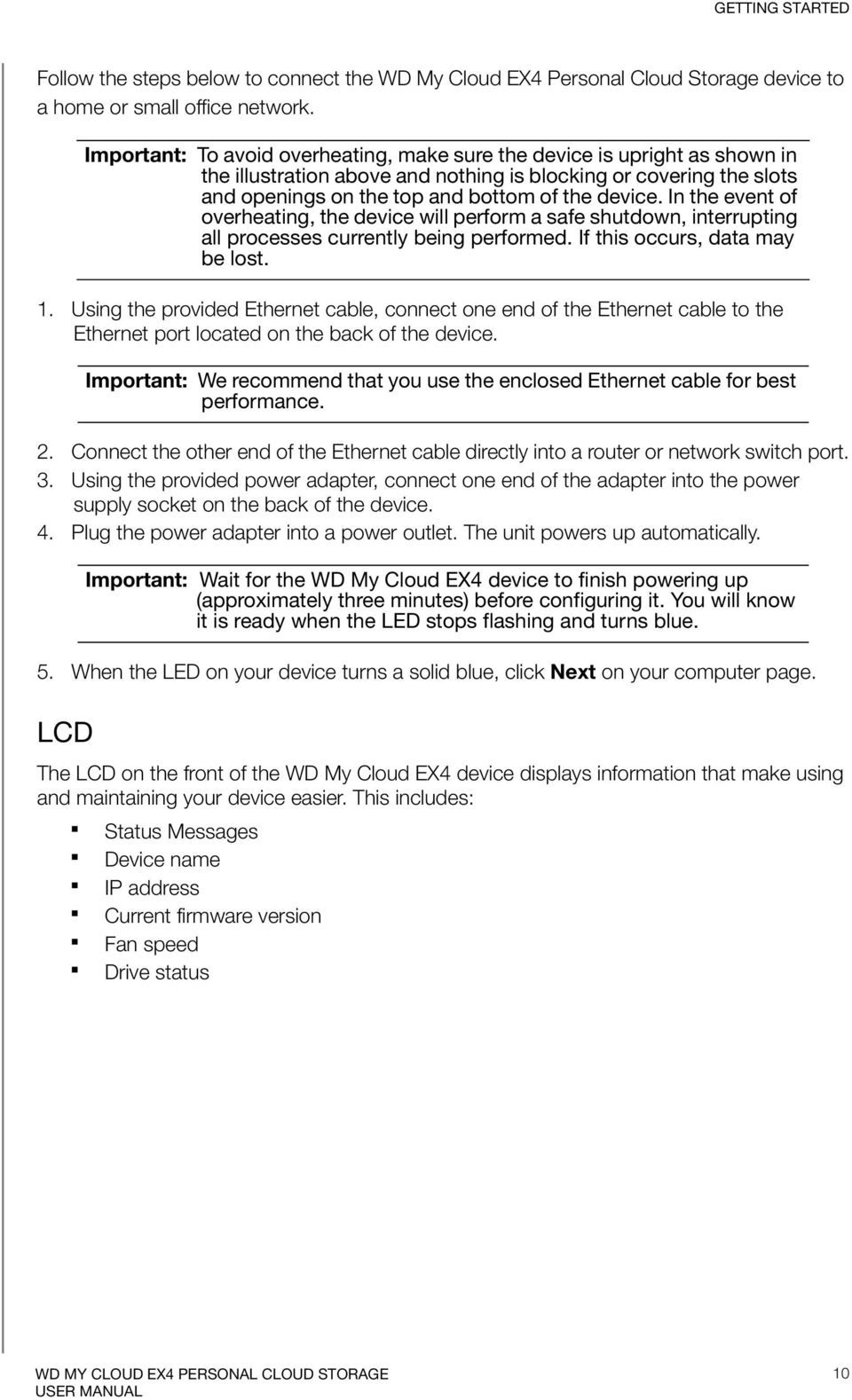 WD My Cloud EX4  Personal Cloud Storage User Manual - PDF