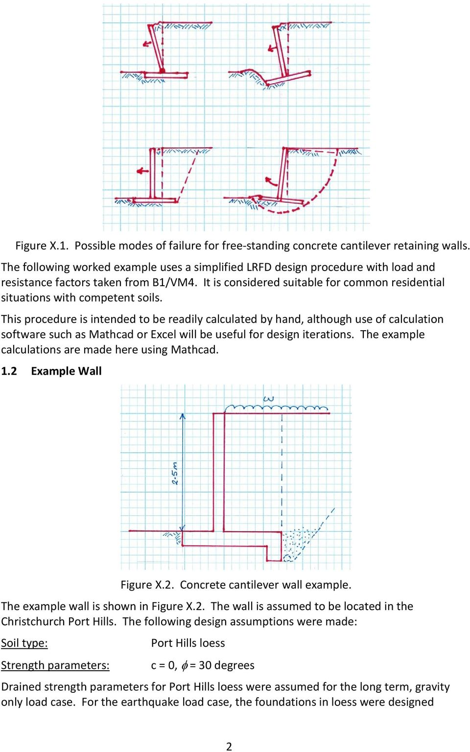 Worked Example 2 Version 1 Design Of Concrete Cantilever Retaining Walls To Resist Earthquake Loading For Residential Sites Pdf Free Download