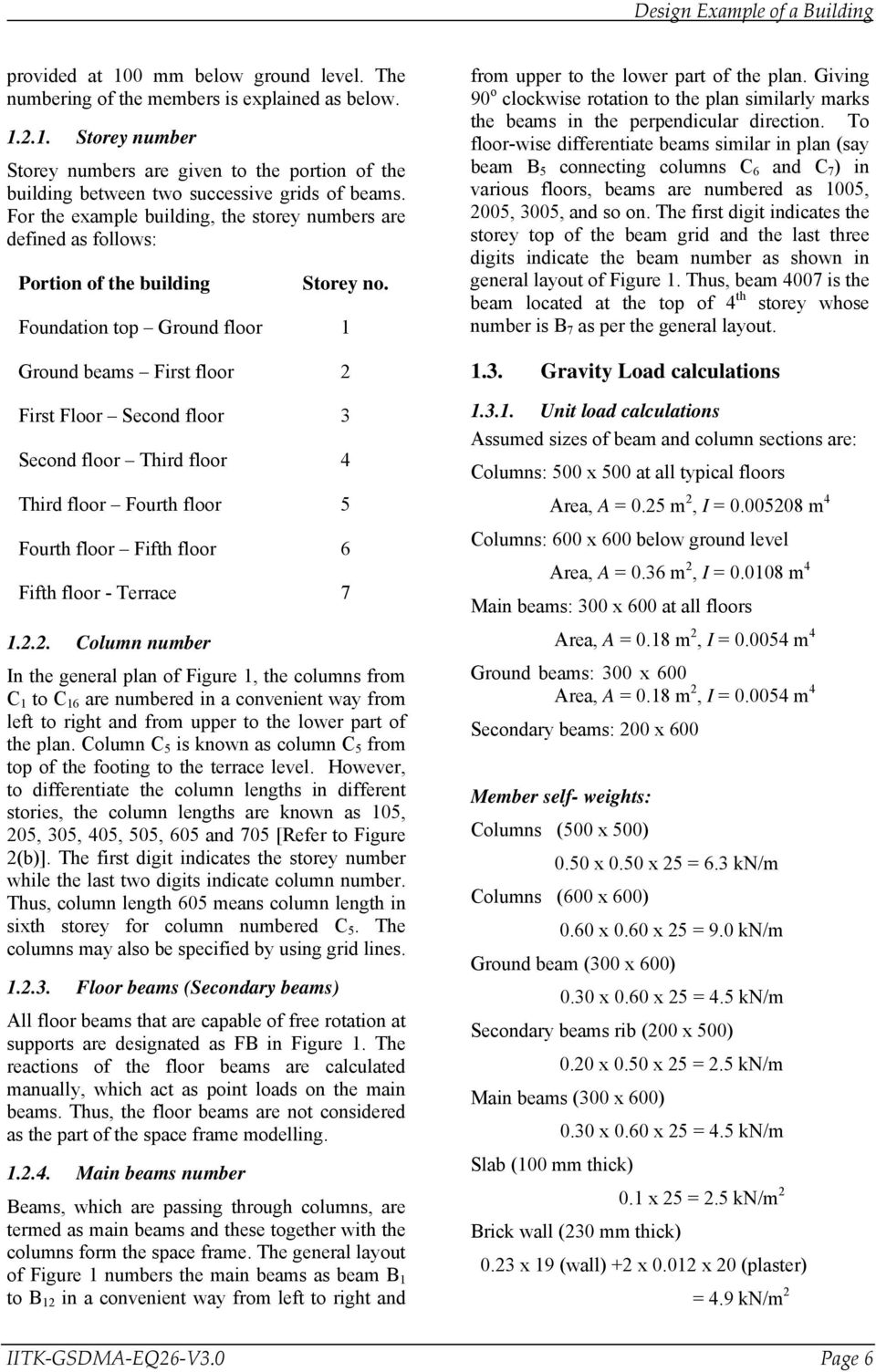 Design Example of a Six Storey Building - PDF