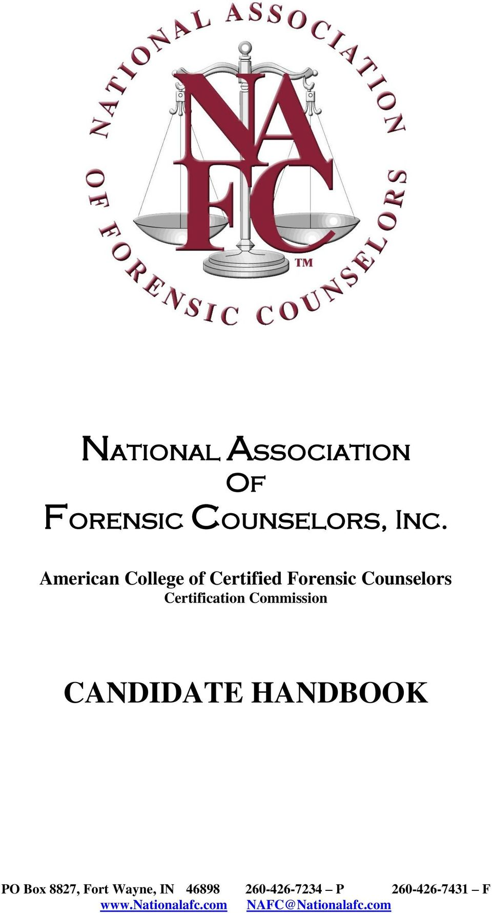 National Association Of Forensic Counselors Inc Pdf