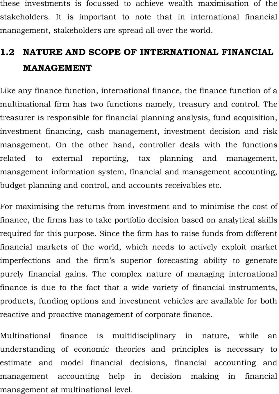 Multinational Financial Management An Overview Pdf Free Download