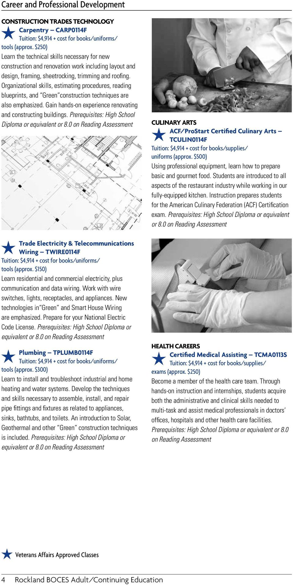 Rooted In The Community Adult Education Courses Fall Winter 845 Pdf House Wiring Techniques Organizational Skills Estimating Procedures Reading Blueprints And Green Construction Are Also Emphasized