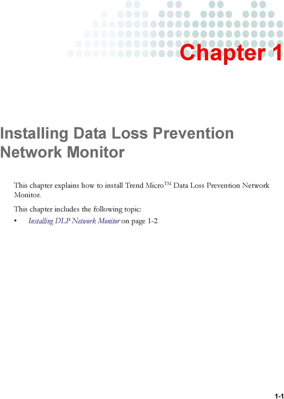 Loss Prevention Network Monitor.