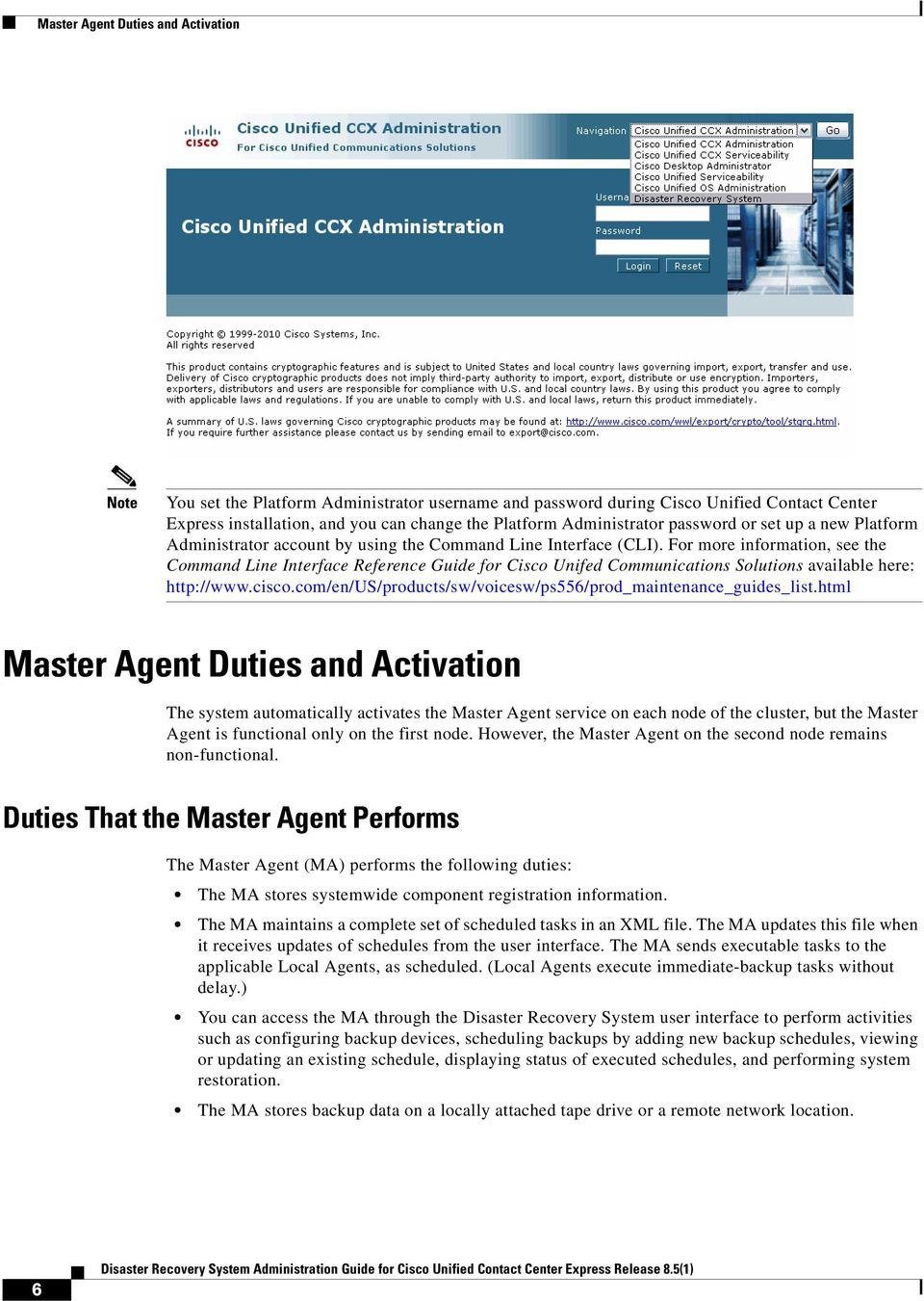 Disaster Recovery System Administration Guide for Cisco