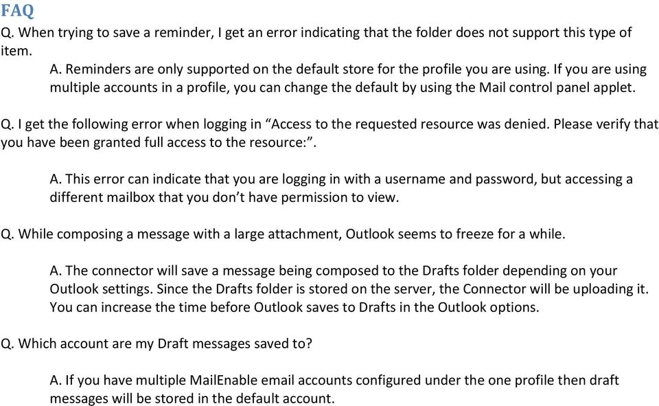 MailEnable Connector for Microsoft Outlook - PDF