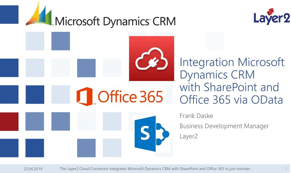 Integration Microsoft Dynamics CRM with SharePoint and