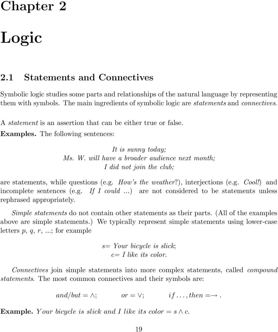 Set Theory And Logic Supplementary Materials Math 103 Contemporary