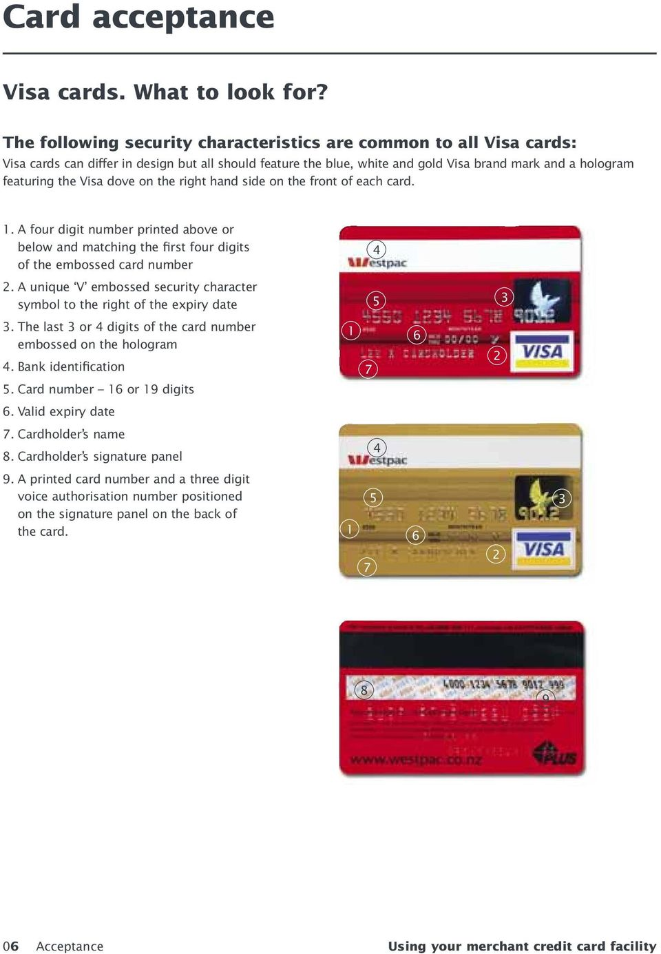 Merchant Operating Guide Using your merchant credit card