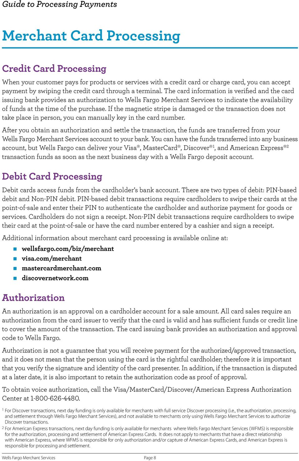Guide to Processing Card Payments - PDF