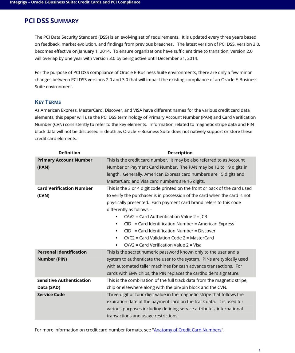 White Paper Oracle E Business Suite Credit Cards And Pci