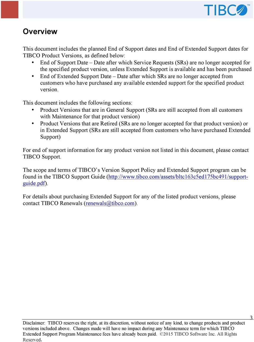 end of support information for tibco product versions pdf rh docplayer net TIBCO BW TIBCO Logo
