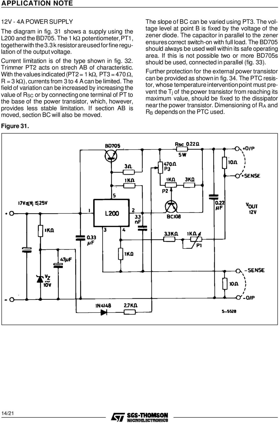 A Designer S Guide To The L200 Voltage Regulator Pdf Picture Of Versatile With Lm317 Field Variation Can Be Increased By Increasing Value Rsc Or Connecting