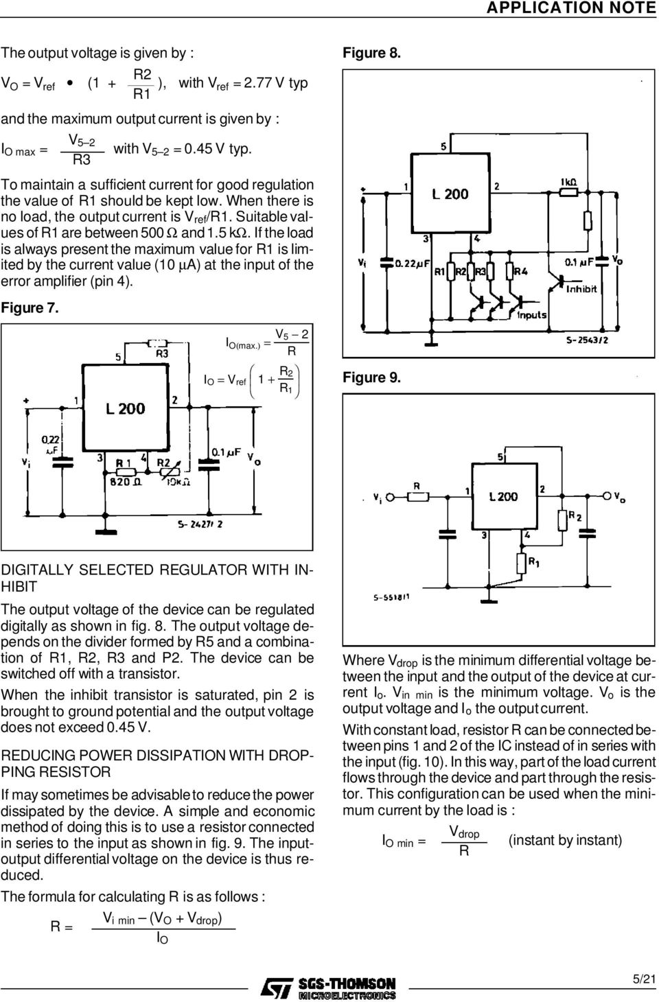 A Designer S Guide To The L200 Voltage Regulator Pdf Picture Of Versatile With Lm317 Iftheload Is Always Present Maximum Value For Limited By Current 10