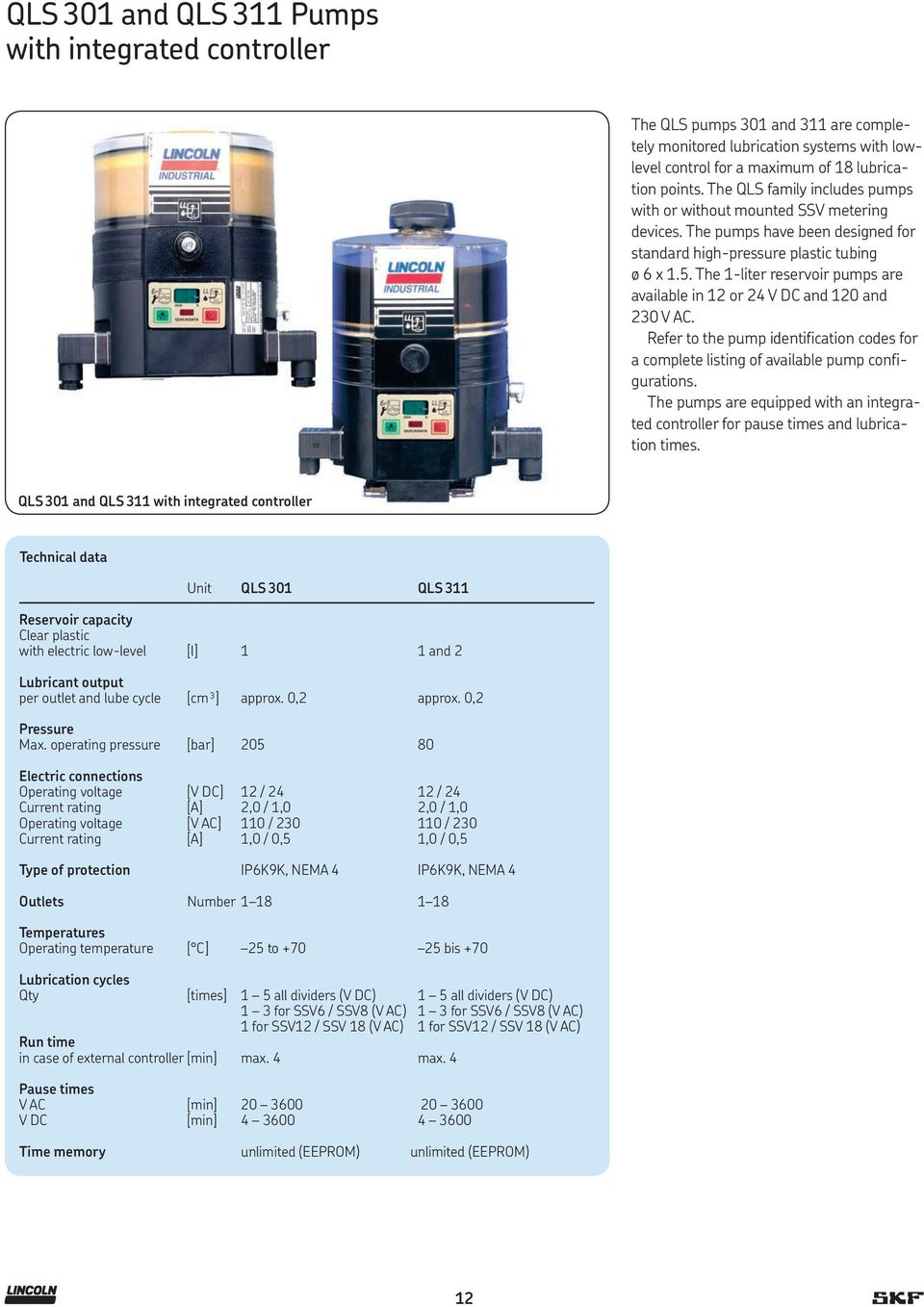 Lincoln Multi Line And Progressive Systems Pdf Reservoir Pump Controller The 1 Liter Pumps Are Available In 12 Or 24 V Dc 120
