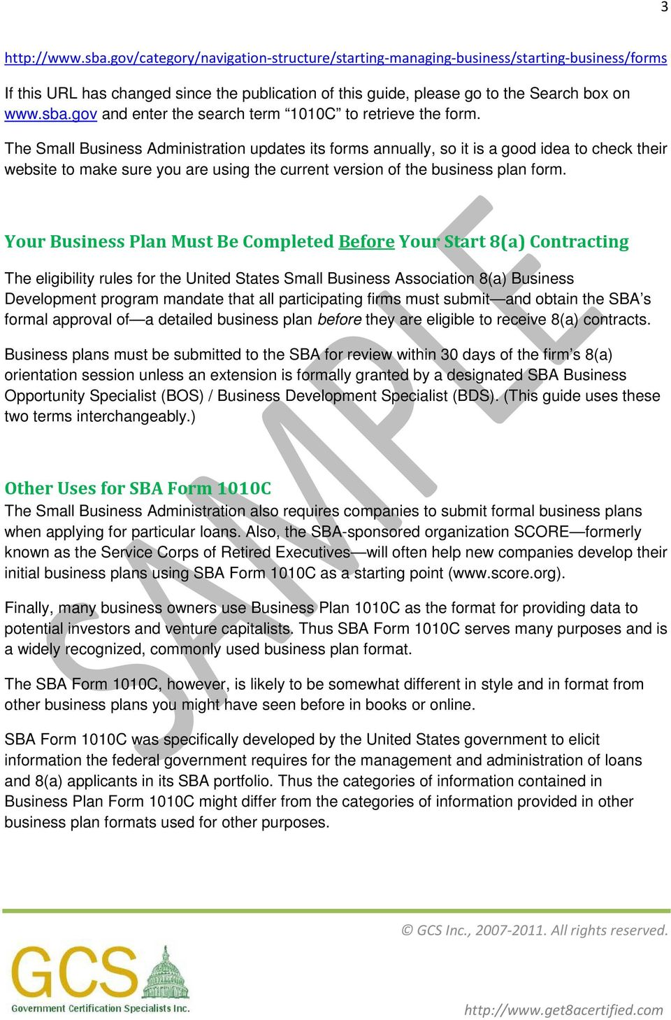 Small business administration sba business plan instruction guide the small business administration updates its forms annually so it is a good idea to wajeb