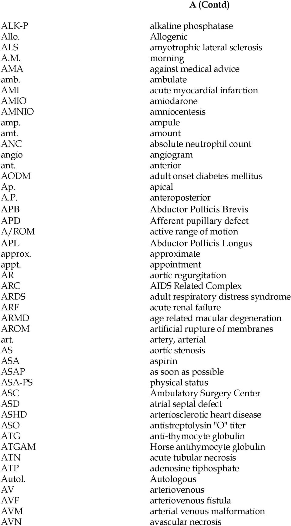 ABBREVIATIONS AND SYMBOLS FOR USE IN THE MEDICAL RECORD - PDF