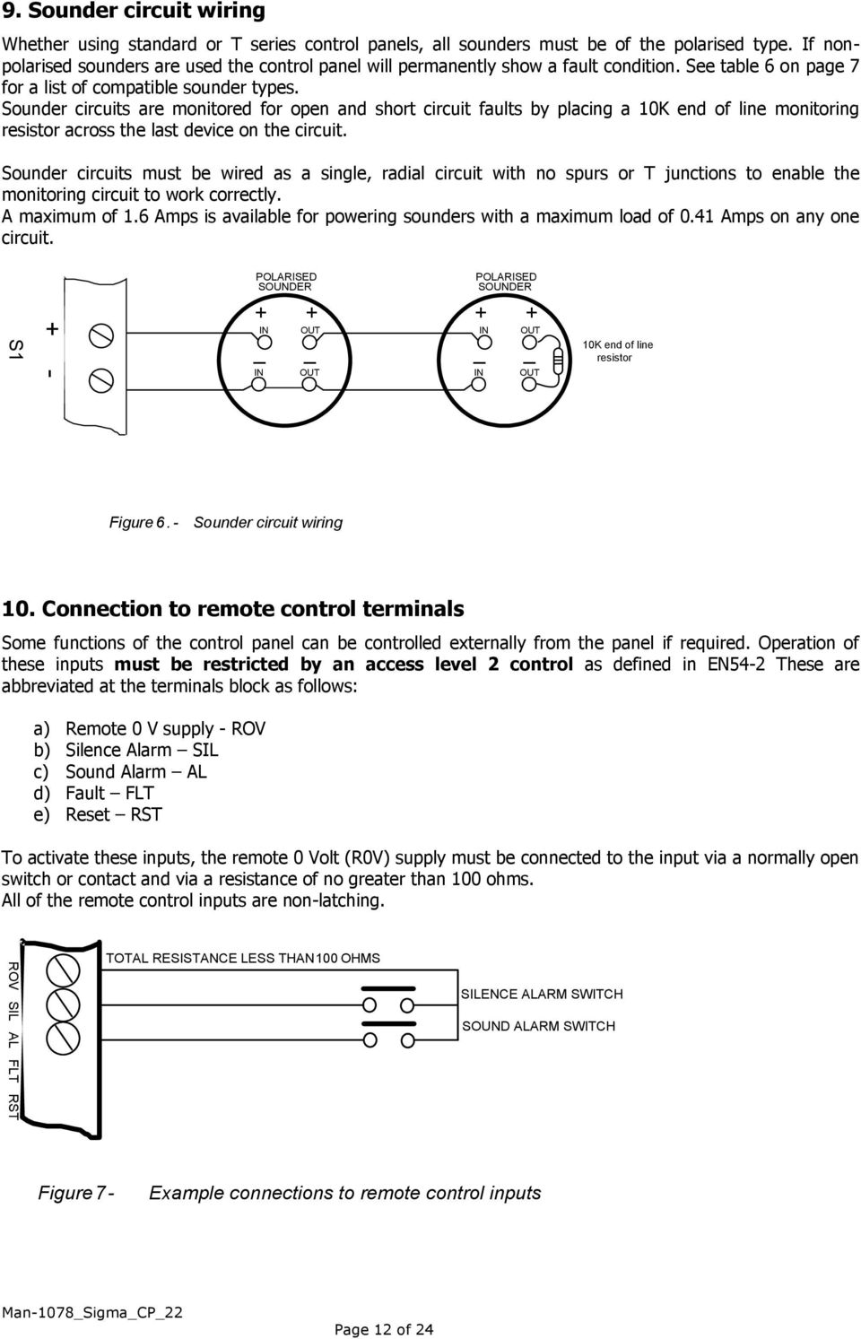 21 Power Supply Maintenance Pdf Circuit Wiring Definition Sounder Circuits Are Monitored For Open And Short Faults By Placing A 10k End Of
