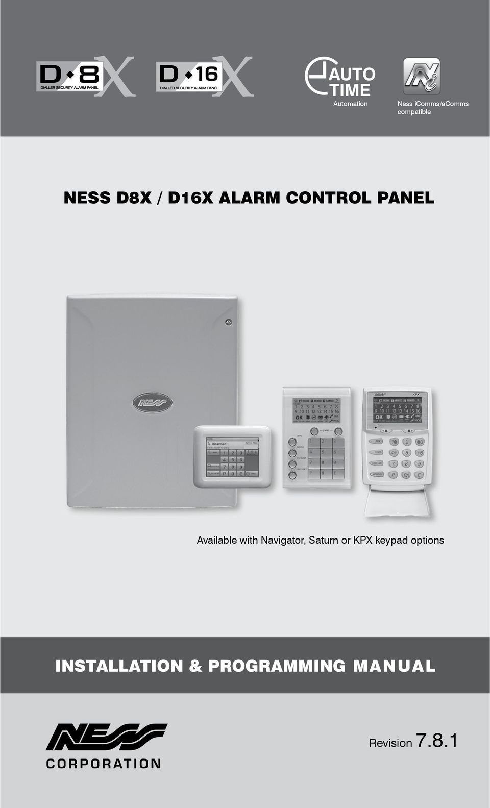 Ness d8x d16x alarm control panel pdf available with navigator saturn or kpx swarovskicordoba Images