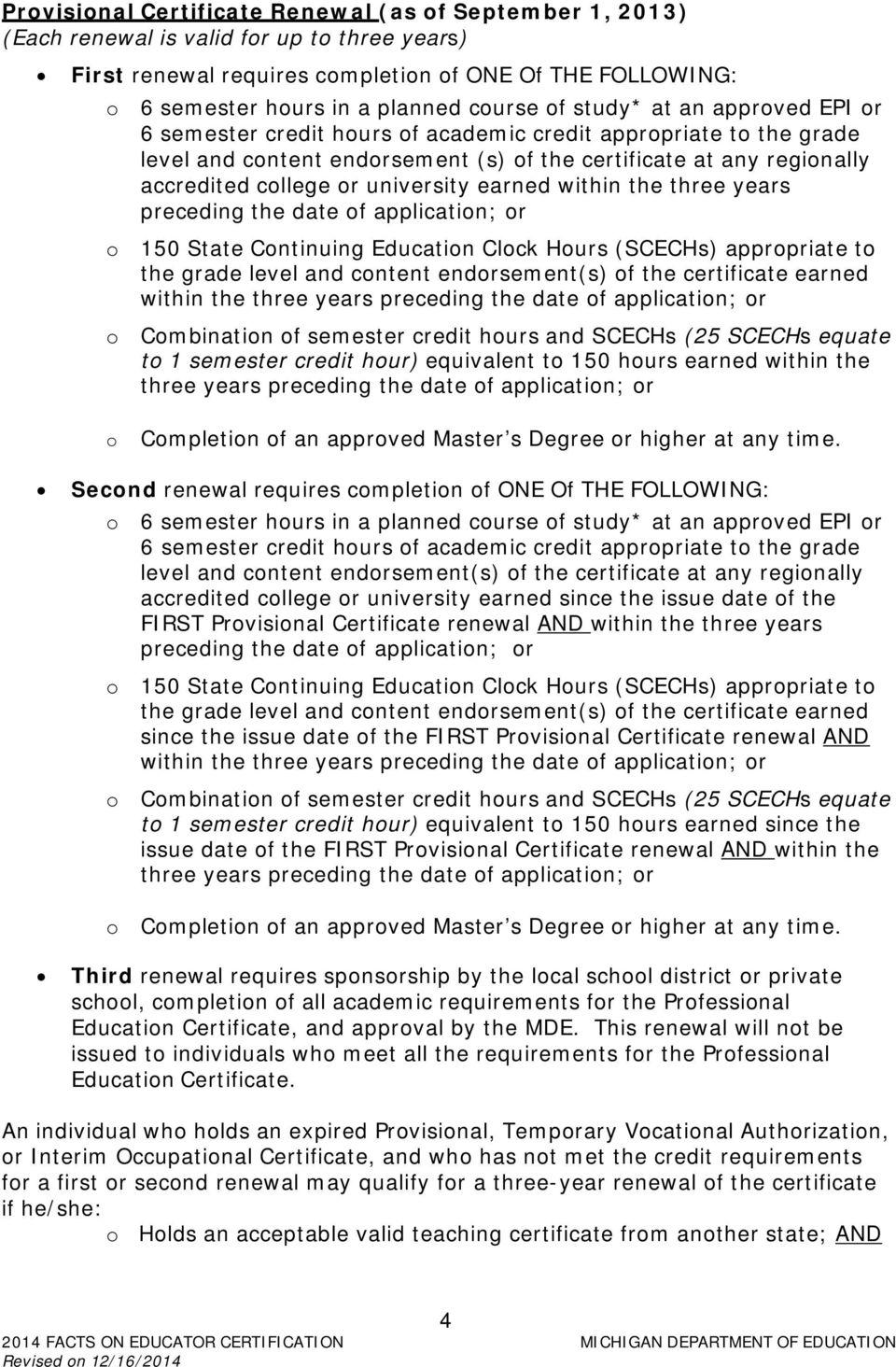 Table Of Contents Office Of Professional Preparation Services