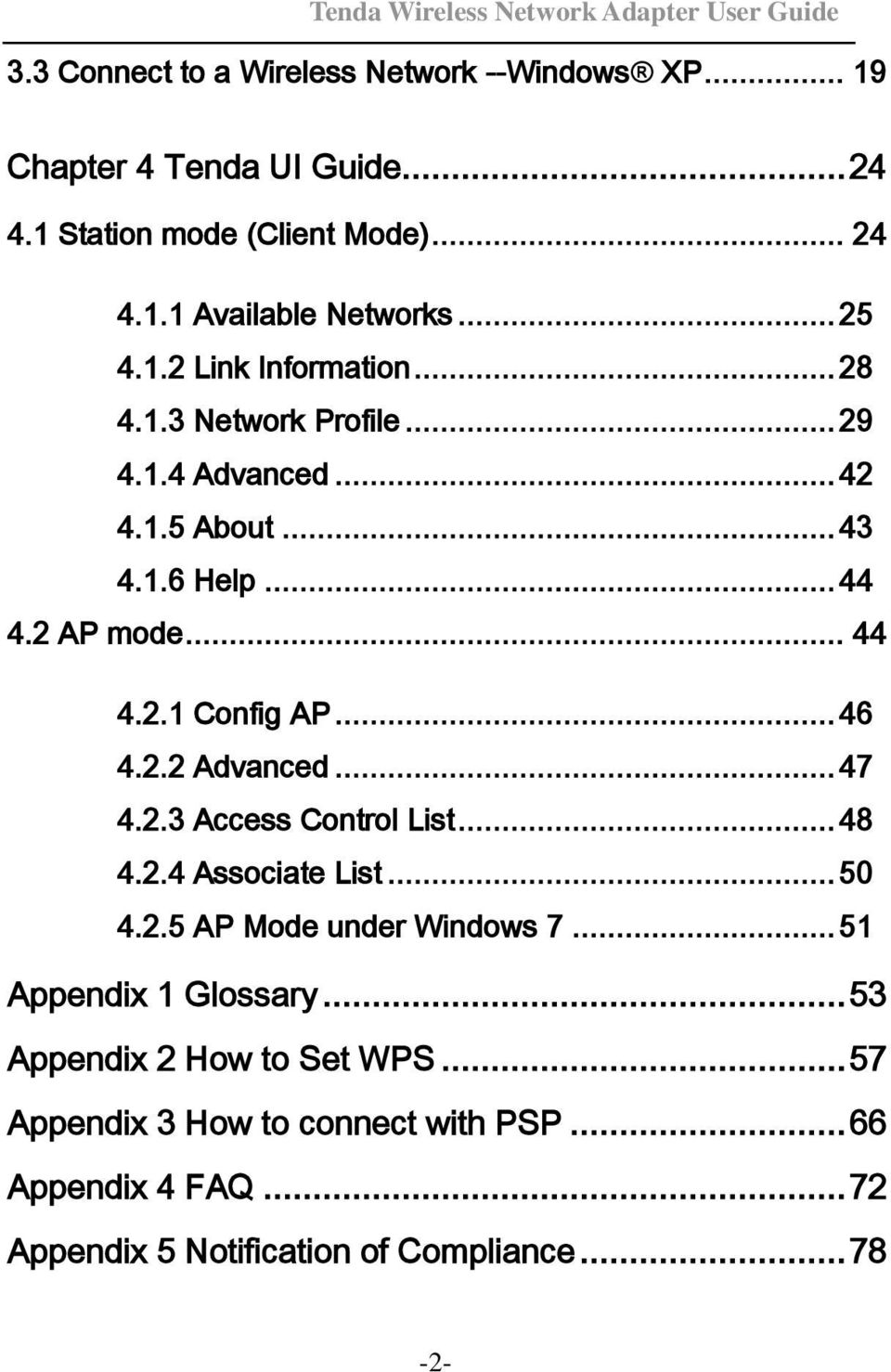Tenda Wireless Network Adapter User Guide - PDF