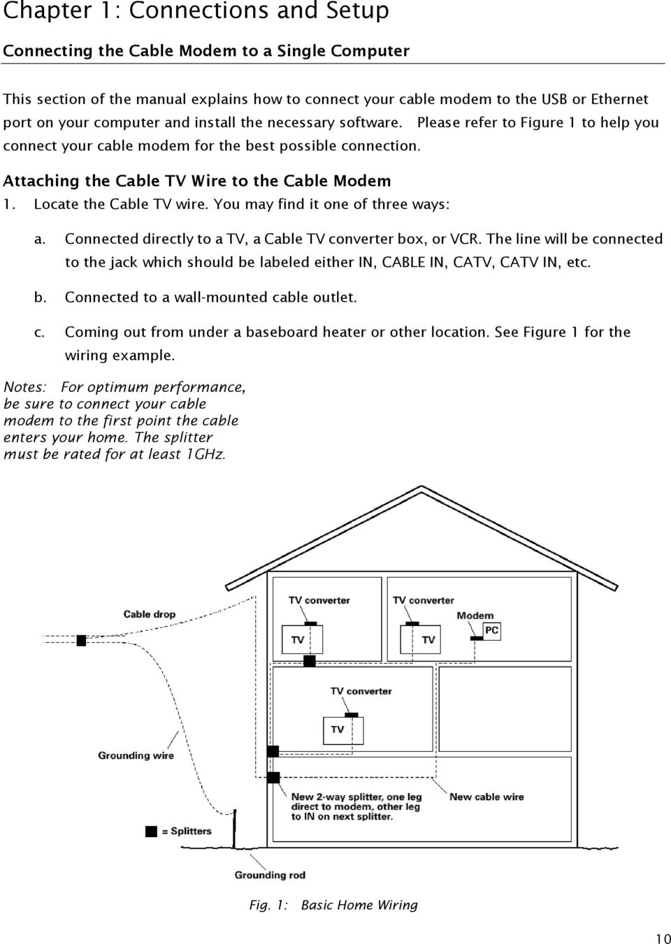 Thg540 Voice Over Ip Cable Modem Pdf Wall Mount Tv Wiring Diagram Connected Directly To A
