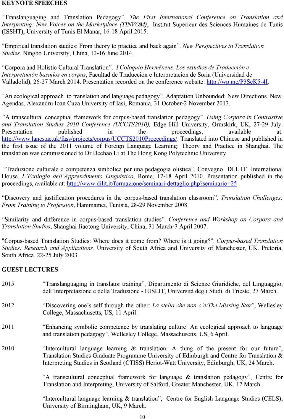 Curriculum vitae sara laviosa formerly laviosa braithwaite pdf 16 18 april 2015 empirical translation studies from theory to practice and back fandeluxe Images