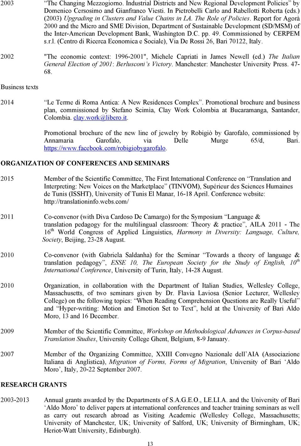 Curriculum vitae sara laviosa formerly laviosa braithwaite pdf report for agor 2000 and the micro and sme division department of sustainable development fandeluxe Images