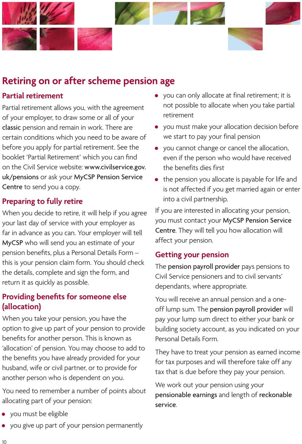 Your classic pension benefits explained a guide to available civilservice ukpensions or ask your mycsp pension service centre to send spiritdancerdesigns Gallery