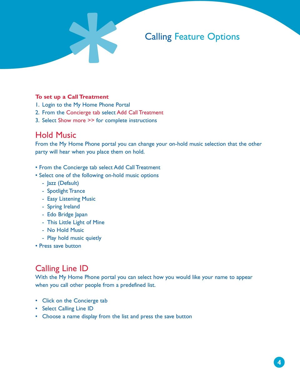 Home Phone Plus Guide calling features and services tips and