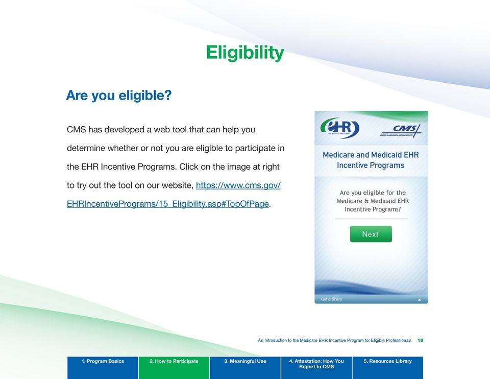 participate in the EHR Incentive Programs.