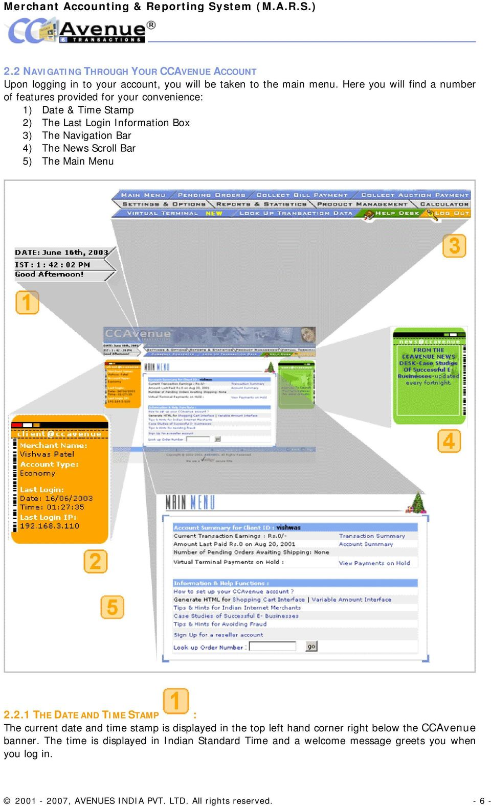 MERCHANT ACCOUNTING & REPORTING SYSTEM (M A R S ) MANUAL