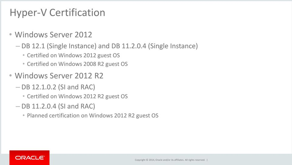 What S New With Oracle Database 12c On Windows On Premises And In