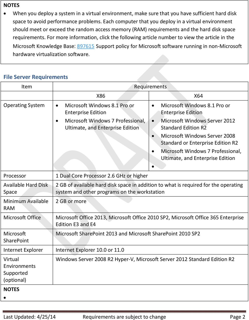 System Requirements for Microsoft Dynamics SL PDF