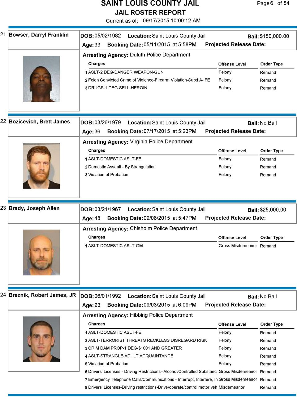 Nd jail roster