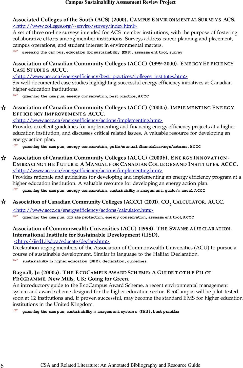 annotated bibliography acu