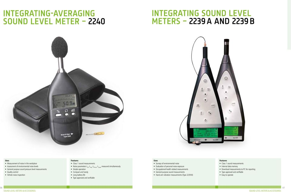 Sound level meters and accessories - PDF
