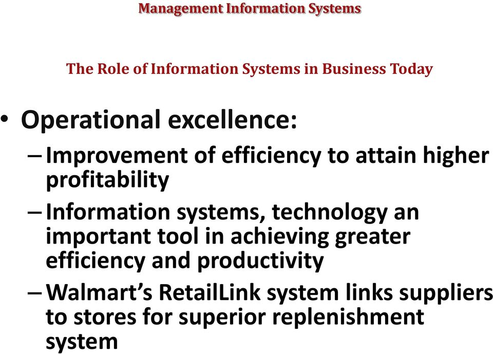 technology an important tool in achieving greater efficiency and productivity