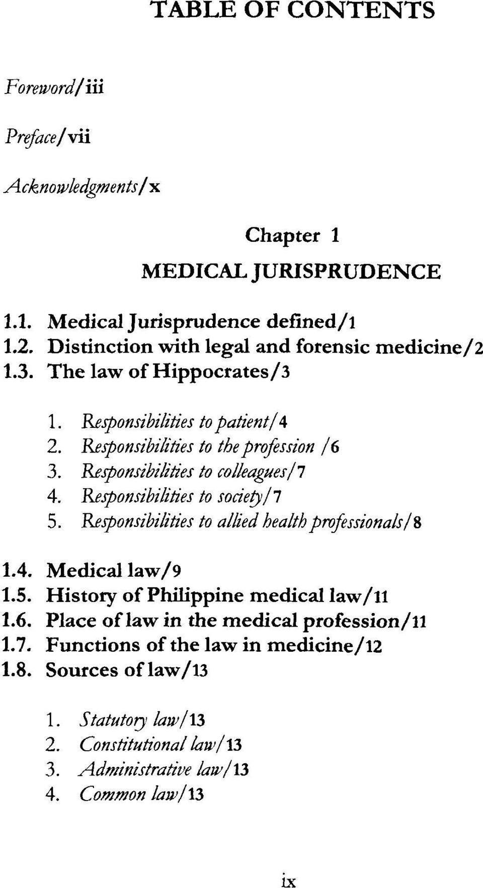 Basics of philippine medical jurisprudence and ethics pdf responsibilities to colleaguesl 4 responsibilities to society 11 5 responsibilities to allied fandeluxe Choice Image
