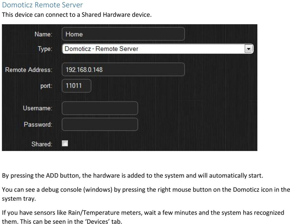 Domoticz  Open Source Home Automation System  Manual date